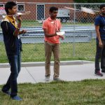 High school students glide testing model gliders